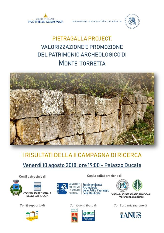 Early results of the second fieldwork campaign of the Pietragalla Project