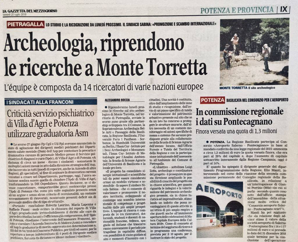 Archaeological research resumes on Monte Torretta